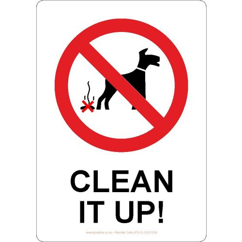 Clean up your dog poo sign