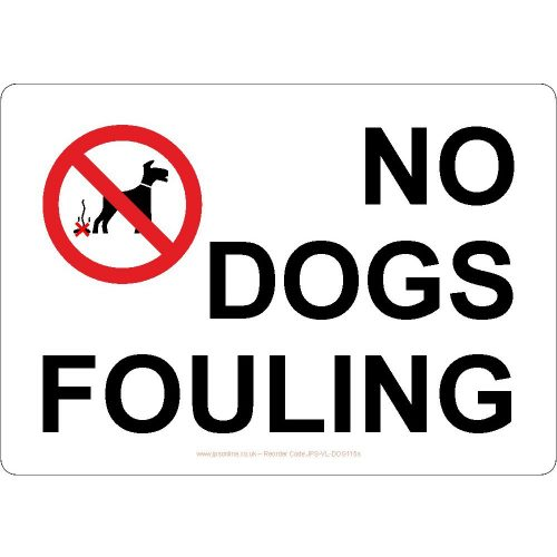 No dogs fouling sign