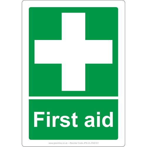 First aid sign portrait