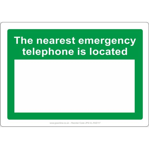 The nearest emergency telephone is located at sign