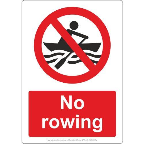 no rowing sign