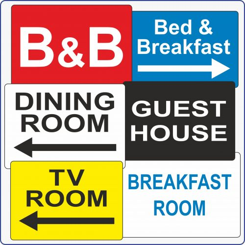 Bed & Breakfast Signs