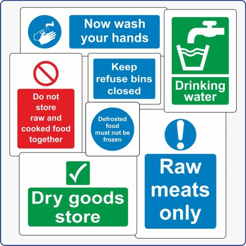 Catering & Hygiene Signs