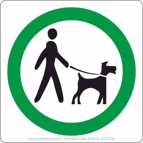 Keep your dog on a lead sign