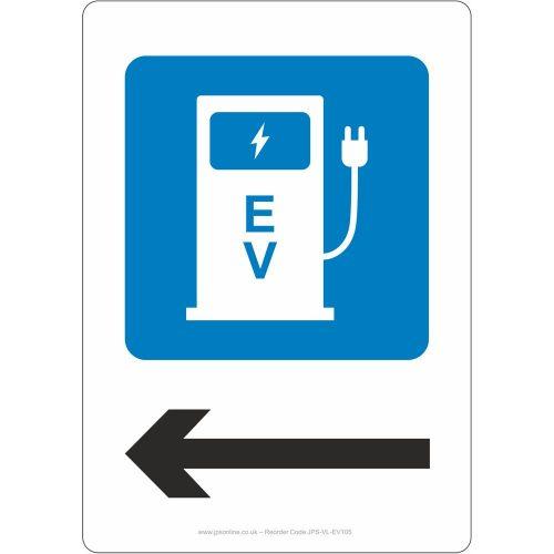 EV left sign