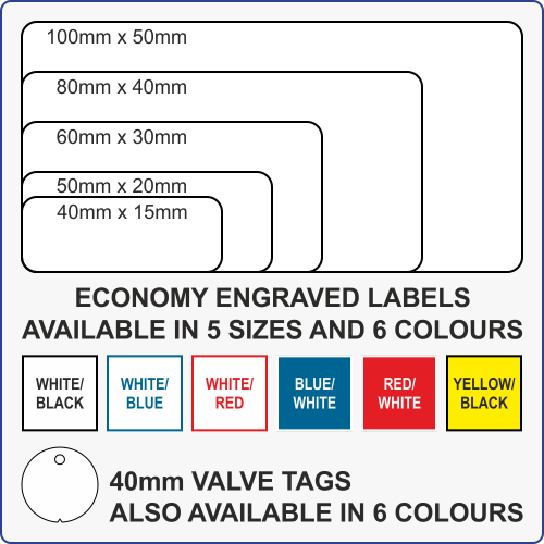 Economy Engraved Labels