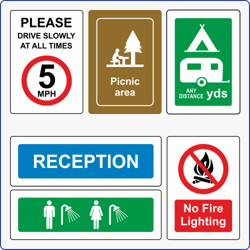 Glamping, Camping & Leisure Signs