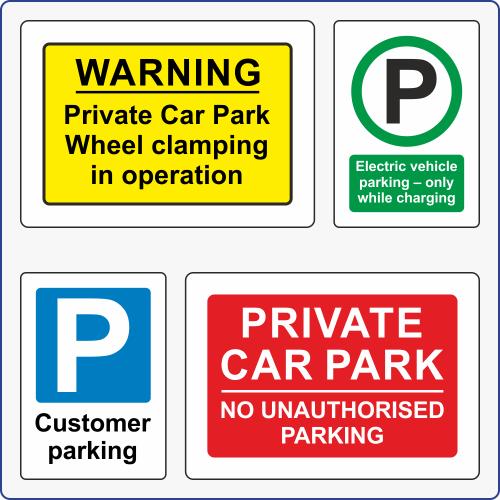 Car Parking Signs